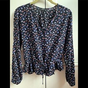 Rails peplum butterfly top